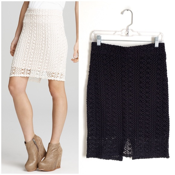 0d616c3c15ff Free People Dresses & Skirts - Free People | Black Star Crochet Lace Pencil  Skirt